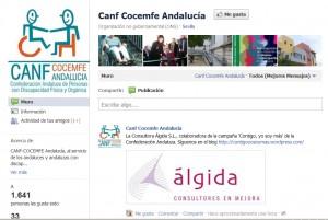 Pantallazo CANF Facebook
